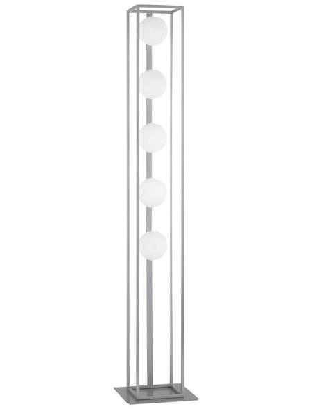 wofi® Standleuchte nickelfarben mit 3,5 W, 5-flammig, H: 130,6 cm, G9 inkl. Leuchtmittel in Warmweiß