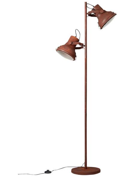 BRILLIANT Standleuchte schwarz/rostfarben mit 60 W, H: 160,00 cm, E27 ohne Leuchtmittel