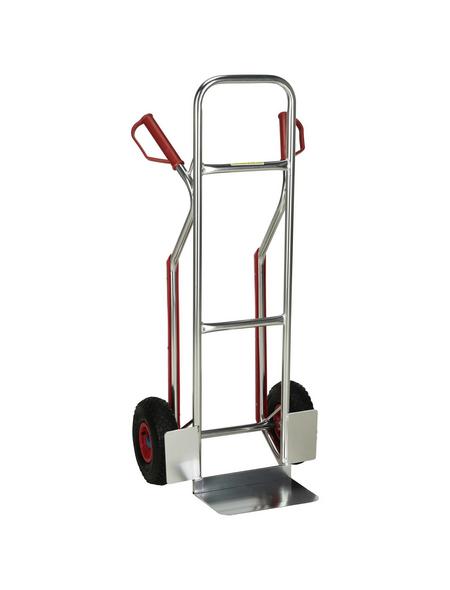 pro-bau-tec® Stapelkarre, max. 150 kg, Aluminium, aluminiumfarben
