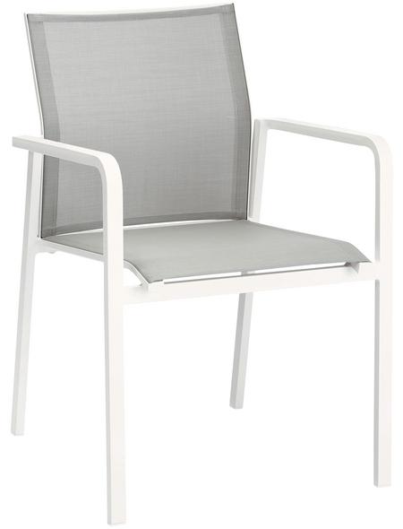 BEST Stapelsessel »Rhodos«, BxHxT: 56 x 85 x 64 cm, Aluminium