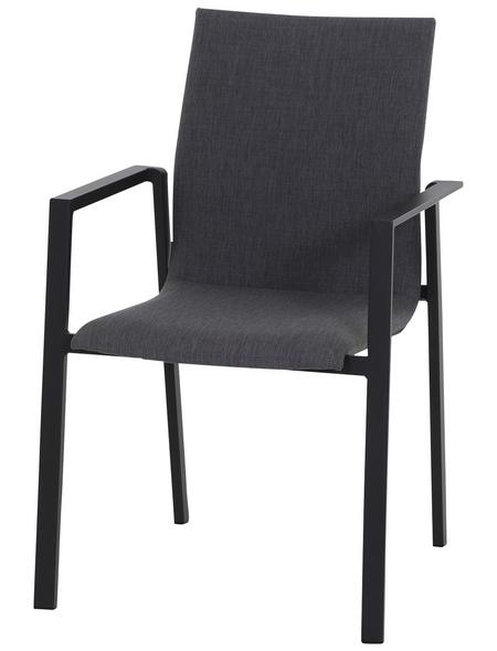 CASAYA Stapelsessel »Savona«, BxHxT: 55,5 x 87 x 62 cm, Aluminium/Textil