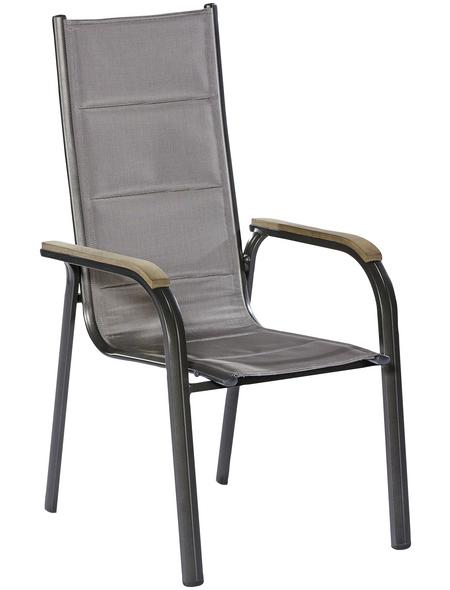 MERXX Stapelsessel »Trivero«, BxTxH: 60  x 74  x 108  cm, Aluminium/ Textil