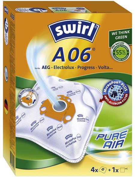 SWIRL Staubsaugerbeutel »MicroPor®«, aus Vlies, 4 Stück, A06