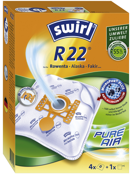 SWIRL Staubsaugerbeutel »MicroPor®«, aus Vlies, 4 Stück, R22