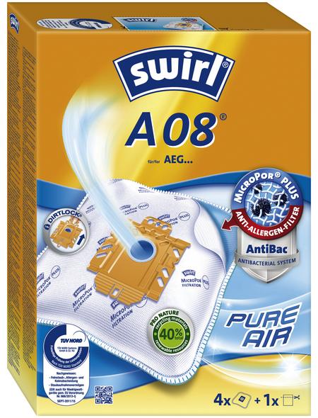 SWIRL Staubsaugerbeutel »MicroPor® Plus«, aus Vlies, 4 Beutel + 1 Filter, A08