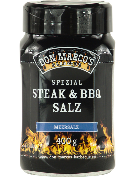 Don Marco´s Barbecue Steaksalz, Meersalz, 400 g