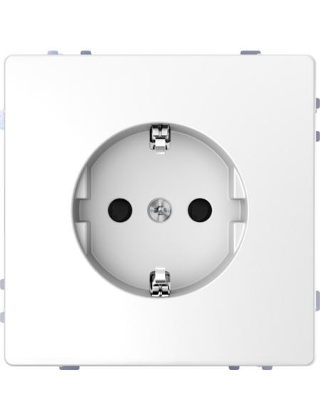 merten Steckdose »System Design«, weiß, Kunststoff/Metall, 250V