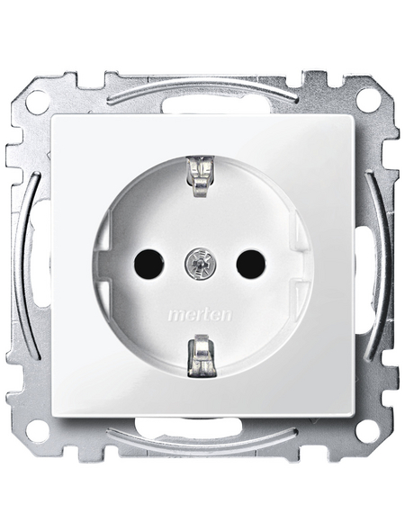 merten Steckdose »System M«, polarweiß, Kunststoff/Metall, 250V
