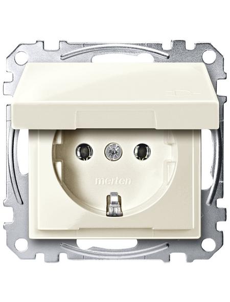 merten Steckdose »System M«, weiß, Kunststoff/Metall, 250V