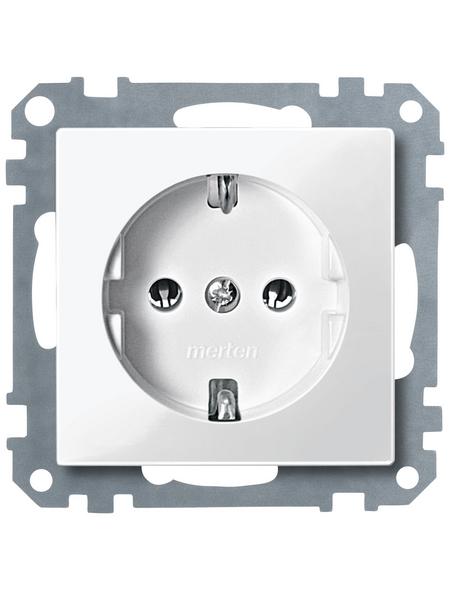 merten Steckdosen-Einsatz, Metall/Kunststoff, polarweiß