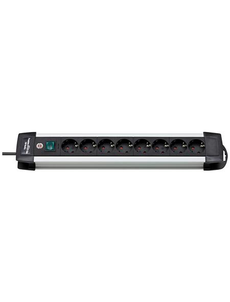 Brennenstuhl® Steckdosenleiste »Premium Alu-Line«, 8-fach, Kabellänge: 3 m