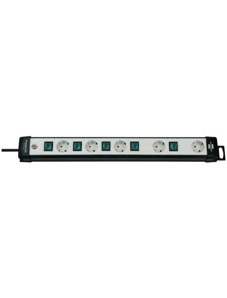 Brennenstuhl® Steckdosenleiste »Premium Line«, 5-fach, Kabellänge: 3 m, schwarz