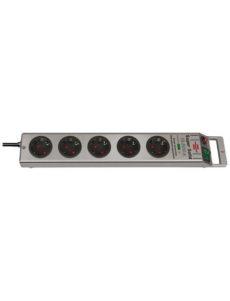 Brennenstuhl® Steckdosenleiste »Super Solid 1153340315«, 5-fach, Kabellänge: 2,5 m