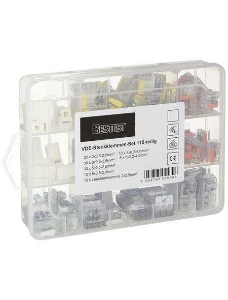 BESTEST Steckklemmen-Set, Kunststoff, Rot/Transparent/Gelb, Elektrische Leiter
