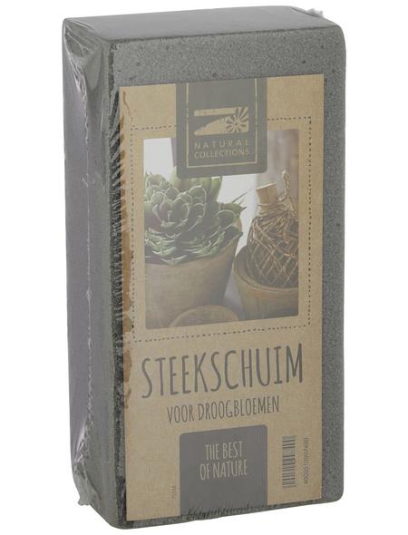 DIJK NATURAL COLLECTIONS Steckschaum Trockenziegel grau 10 x 7,5 x 20 cm