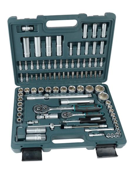 BRUEDER MANNESMANN WERKZEUGE Steckschlüsselkasten 94-teilig, Schlüsselgröße: 4 – 32 mm