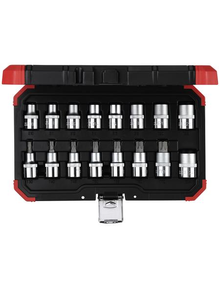GEDORE Steckschlüsselsatz, 16-tlg. Set, E10 - E24 / T30 -T70