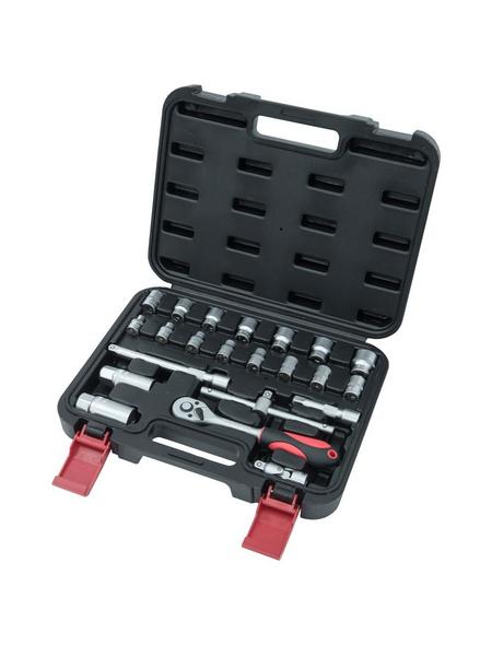 CONNEX Steckschlüsselsatz 22-teilig, Schlüsselgröße: 6–19; 22 mm