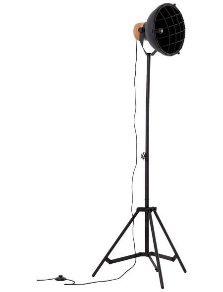 BRILLIANT Stehlampe schwarz/kristallfarben mit 60 W, H: 166,5 cm, E27 ohne Leuchtmittel
