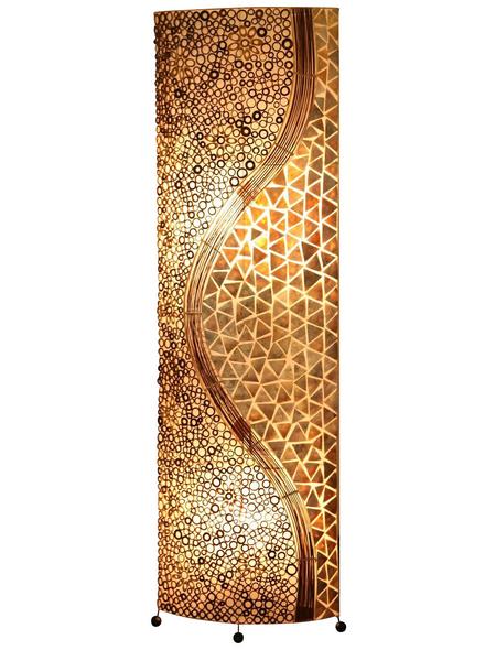 GLOBO LIGHTING Stehleuchte »BALI« braun mit 60 W, 2-flammig, H: 149 cm, E27 ohne Leuchtmittel