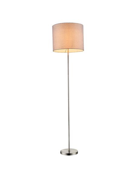GLOBO LIGHTING Stehleuchte »BETTY«, nickelfarben/beige, Höhe: 160  cm