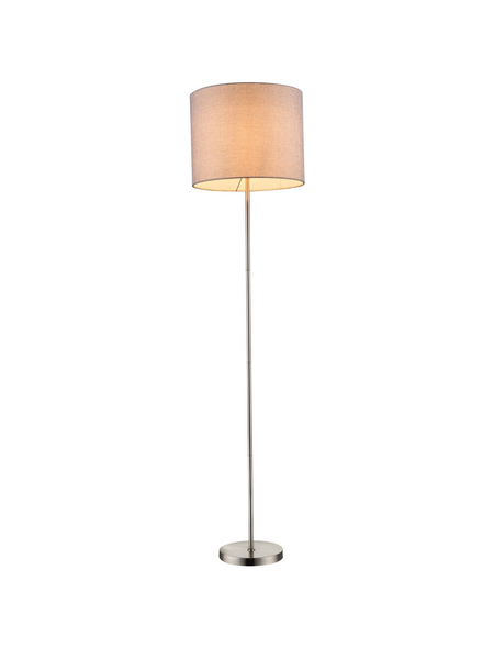 GLOBO LIGHTING Stehleuchte »BETTY« nickelfarben/beige mit 60 W, H: 160 cm, E27 ohne Leuchtmittel