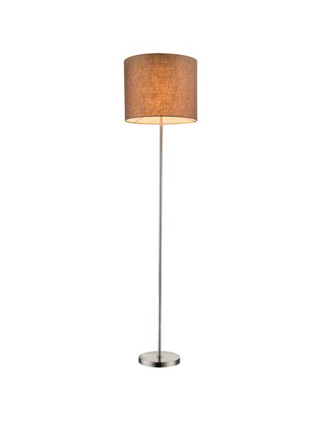 GLOBO LIGHTING Stehleuchte »BETTY« nickelfarben/braun mit 60 W, H: 160 cm, E27 ohne Leuchtmittel