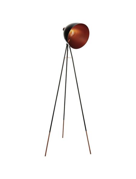 EGLO Stehleuchte »CHESTER« schwarz/kupferfarben mit 60 W, Schirm-Ø x H: 27,5 x 135,5 cm, E27 ohne Leuchtmittel