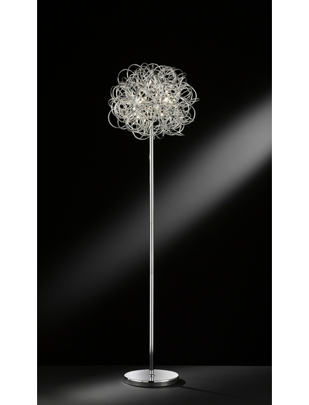 wofi® Stehleuchte chrom mit 10 W, H: 166 cm, LED inkl. Leuchtmittel in Warmweiß