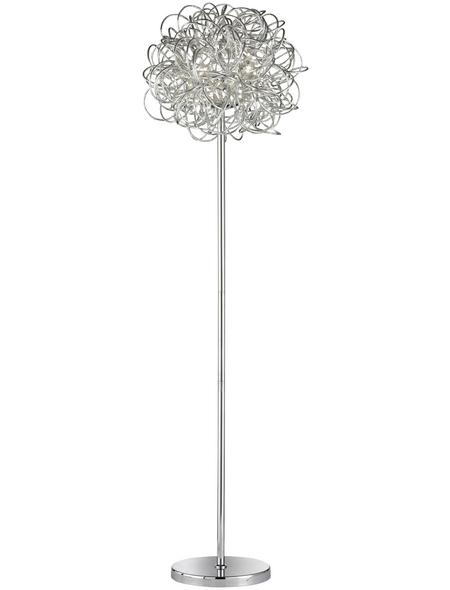 wofi® Stehleuchte chromfarben mit 10 W, H: 166 cm, LED inkl. Leuchtmittel in Warmweiß