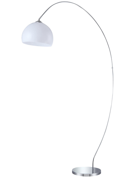 wofi® Stehleuchte chromfarben mit 60 W, H: 170 cm, E27 ohne Leuchtmittel