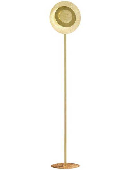 wofi® Stehleuchte goldfarben mit 12 W, H: 150 cm, LED inkl. Leuchtmittel in Warmweiß
