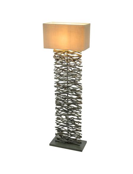 Stehleuchte »JAMIE« grau mit 60 W, H: 147 cm, E27 ohne Leuchtmittel