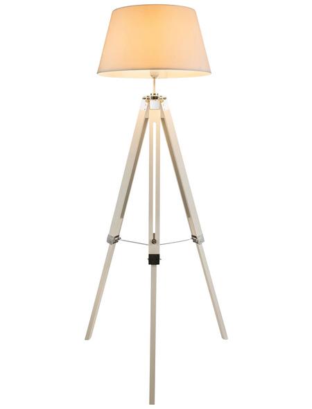 GLOBO LIGHTING Stehleuchte »MAREEN« Weiß mit 40 W, H: 145 cm, E27 ohne Leuchtmittel