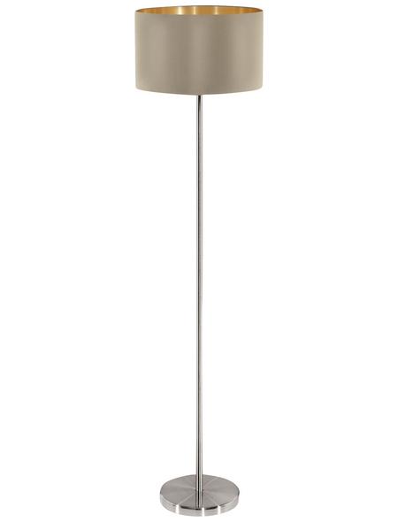EGLO Stehleuchte »MASERLO«, goldfarben/taupe, Höhe: 151  cm