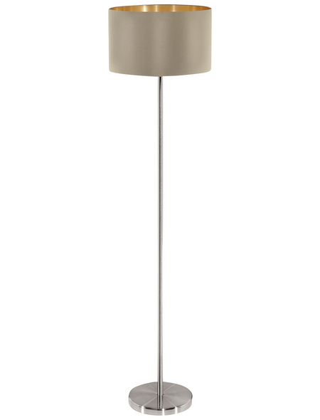 EGLO Stehleuchte »MASERLO« goldfarben/taupe mit 60 W, H: 151 cm, E27 ohne Leuchtmittel