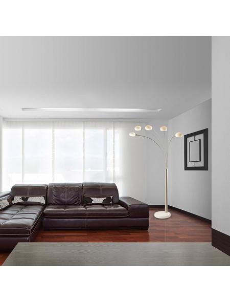 GLOBO LIGHTING Stehleuchte nickelfarben mit 40 W, 5-flammig, H: 210 cm, E14 ohne Leuchtmittel