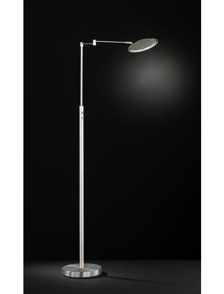 wofi® Stehleuchte nickelfarben mit 6 W, H: 137,5 cm, LED inkl. Leuchtmittel in tageslichtweiß