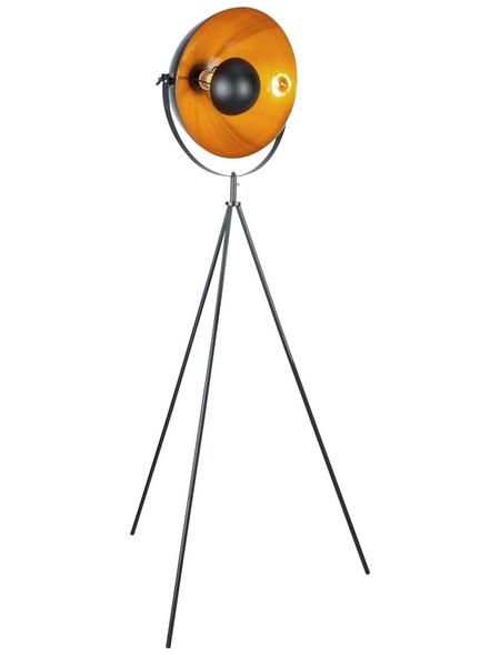 GLOBO LIGHTING Stehleuchte »Sandra« schwarz/goldfarben mit 60 W, H: 160 cm, E27 ohne Leuchtmittel