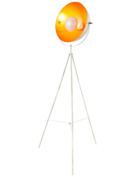 GLOBO LIGHTING Stehleuchte »SANDRA« weiß/goldfarben mit 60 W, H: 160 cm, E27 ohne Leuchtmittel