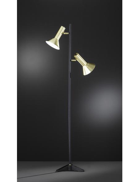wofi® Stehleuchte schwarz mit 25 W, 2-flammig, H: 140 cm, E27 ohne Leuchtmittel