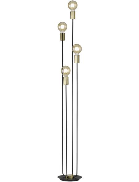 wofi® Stehleuchte schwarz mit 60 W, 4-flammig, H: 136 cm, E27 ohne Leuchtmittel