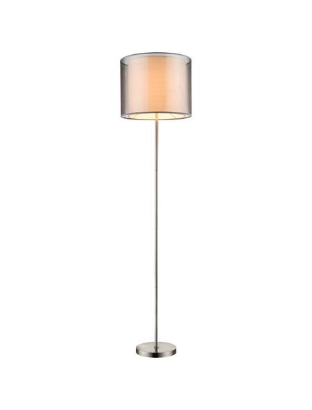 GLOBO LIGHTING Stehleuchte »Theo« nickelfarben mit 60 W, H: 160 cm, E27 ohne Leuchtmittel