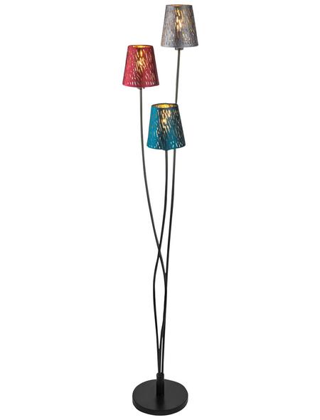 GLOBO LIGHTING Stehleuchte »TICON« bunt mit 25 W, 3-flammig, H: 150 cm, E14 ohne Leuchtmittel
