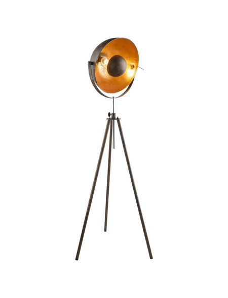 GLOBO LIGHTING Stehleuchte »XIRENA I« goldfarben/rostfarben mit 60 W, Schirm-Ø x H: 41 x 179 cm, E27 ohne Leuchtmittel