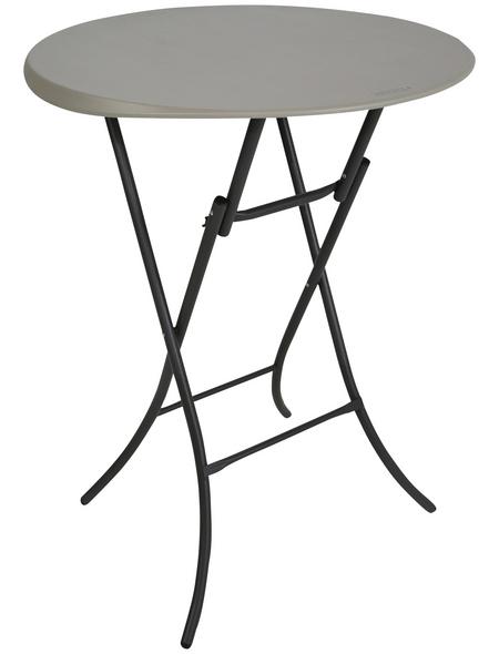 LIFETIME Stehtisch, ØxH: 84 x 110 cm, Tischplatte: Kunststoff