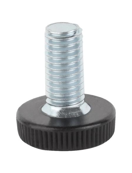 GAH ALBERTS Stellschraube, für Gewindestopfen, Stahl/Kunststoff, M8 x 30 mm, 4 St.