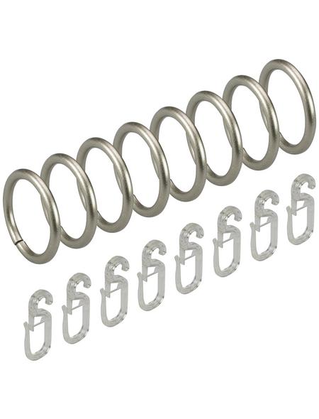 LIEDECO Stilring, Silber, 8 Stück, 16 mm