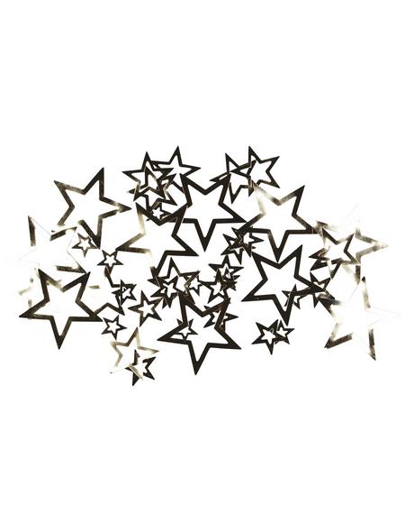 CASAYA Streudeko Sterne Metall silber 2,5 – 4 cm 40 St.