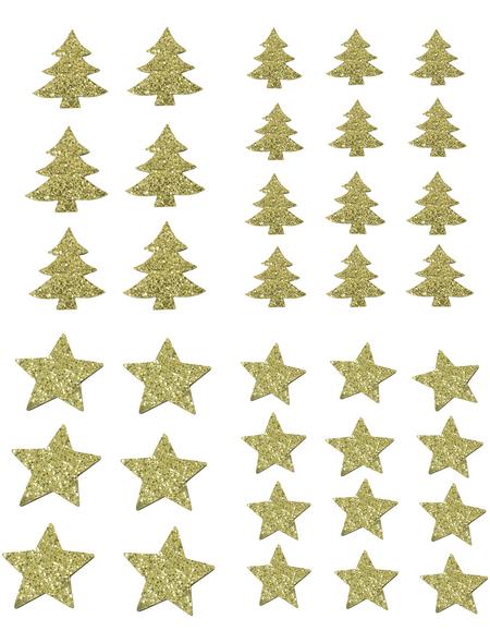 CASAYA Streusterne/-bäume mit Glitter, 20 g